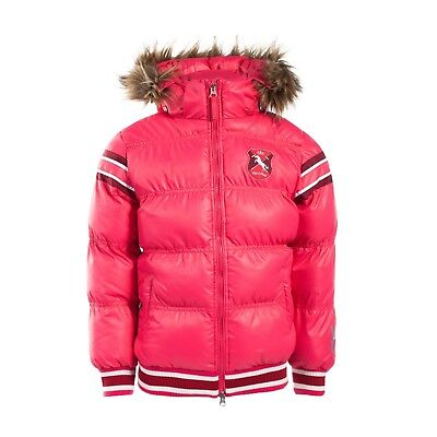 Horze Kids and Ponies Scout Padded Jacket with Fur Hood