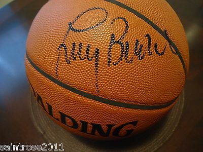 NY KNICKS Coach LARRY BROWN ISIAH THOMAS Signed Official NBA Game Ball
