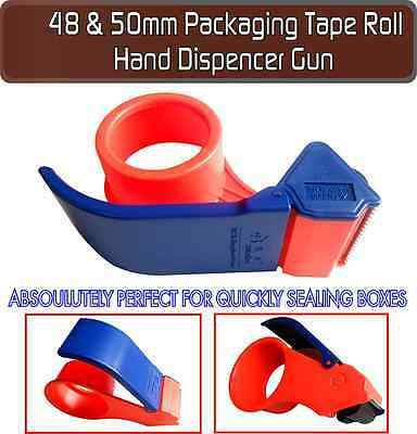 48mm & 50mm Brown/Clear Packaging Packing Boxes Tape Roll Hand Dispenser Gun