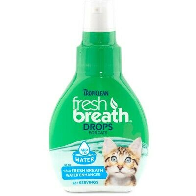 TropiClean Fresh Breath Drops, 1.7-oz bottle For Cats Direct From Manufacture