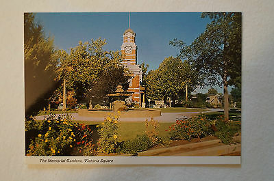 The Memorial Gardens - Victoria Square - Vintage - Postcard.