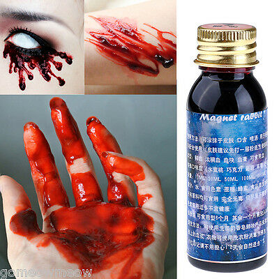 Stage Special Effect Makeup Halloween Foundation Applicator Vampire Fake Blood