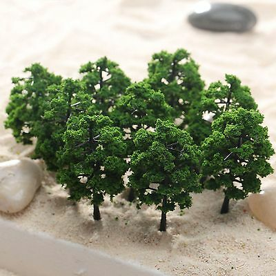 10pcs Green Tree Model Train Railway Park Building Wargame Scenery Layout 8cm