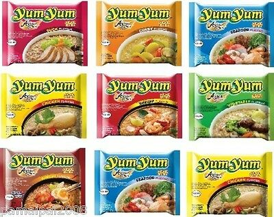 Angebot: 10 x 60g Yum Yum Instant Nudelsuppen EIGENE WAHL Huhn Ente Beef Suppe