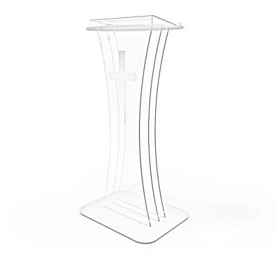 plexiglass Clear Acrylic Lucite church conference ghost Podium Pulpit Lectern