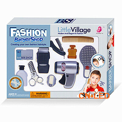 Play accessories barber shop Salon Hairstyle play set kit for Boy kids Gift B