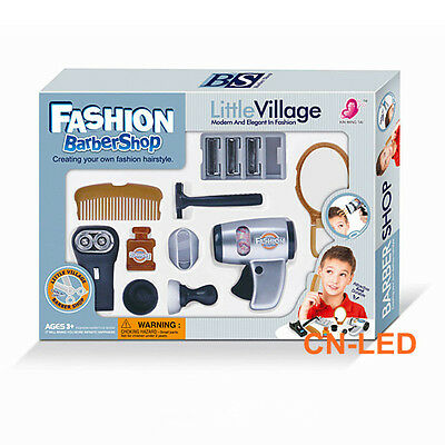 Play accessories barber shop Salon Hairstyle play set kit for Boy kids Gift C