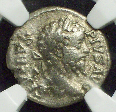 NGC Ancients ROMAN EMPIRE *COLOSSEUM HOARD* Sept. Severus 193-211 AD Denarius F