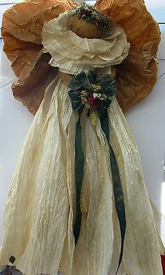 Corn Husk Angel 30 Inches Tall  Free Shipping