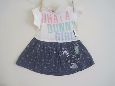 BNWT gorgeous New Girls Minoti bunny dress age 12-18 18-24 months 3-4 years