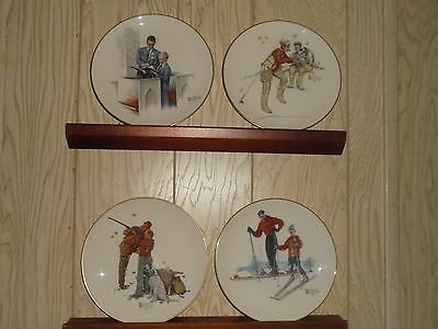 Norman Rockwell 4 seasons Collector Plates