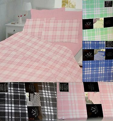 Thermal Flannelette Sheets Fitted + Flat or 2 x Flat Sheet Set with Pillow cases