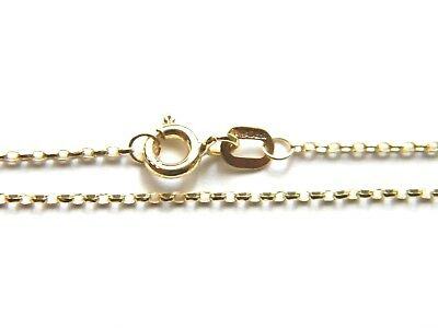 9ct Yellow Gold 10 inch Anklet Chain 1mm thick- Lightweight Diamond Cut Belcher
