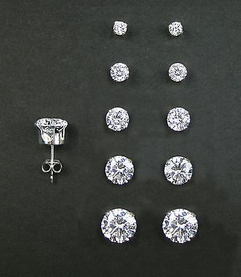 925 Sterling Silver Stud Earrings Like Us On Facebook Set Of 5 Pairs Rd2mm 3mm 4mm 5mm And 6mm