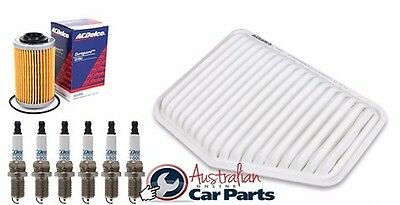 Holden VE V6 Commodore Service Kit OIL AIR FILTER SPARK PLUGS Genuine gm Acdelco