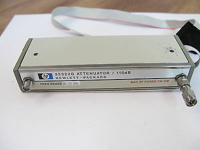 HP Agilent 33322G Programmable Step attenuator / 110dB / dc-13 GHz / OPT 016,H89