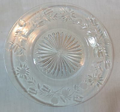 "Libbey Rock Sharpe Stardust Etched Crystal 8"" Salad/Luncheon Plate(s)"