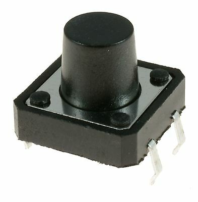 10 x 12x12x9.5mm Momentary Push Button Tactile Switch PCB Mounted SPST