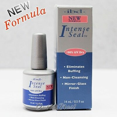IBD INTENSE SEAL New Formula 14m 0.5oz Acrylics UV Gel Top Seal Coat 60515