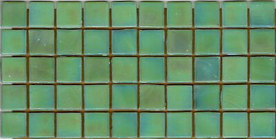 50pcs NP31 Light Green Pearl Natura Glass Mosaic Tiles Iridescent 15x15x4mm