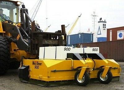 Multisweep MS900 Forklift Sweeper, Road Sweeper, Sweeper Attachment Bucket Broom