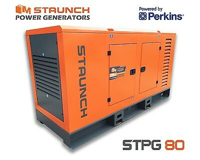 Staunch Perkins 80kva Diesel Generator, 3 Phase Standby - Back Up Generator
