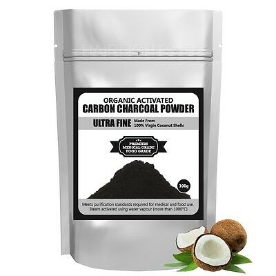 Ultra Fine Pure Activated Charcoal Powder Coconut Shell Organic Teeth Whitening