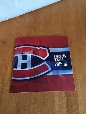 Montreal Canadiens 2015-2016 Season Products & Services Catalog