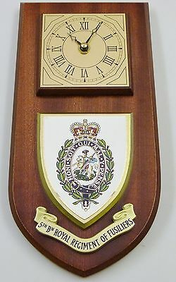 5Th Btn Royal Regiment Of Fusiliers Hand Made To Order Regimental Wall Clock