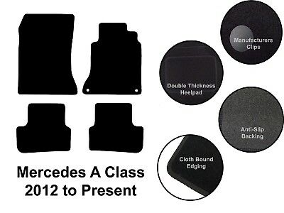 Mercedes A Class(2013 to DATE) New Fully Tailored Quality Black Carpet Car Mats