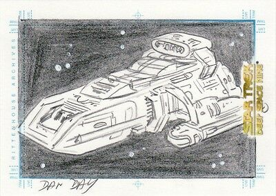 Quotable Star Trek Deep Space Nine DS9 Dan Day Runabout Sketch Card