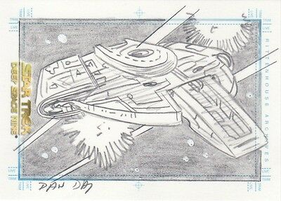 Quotable Star Trek Deep Space Nine DS9 Quotable Dan Day Defiant Sketch Card