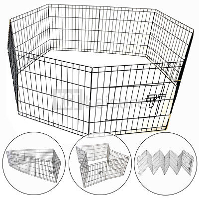Large 76Cm Pet Puppy Wire Play Pen Cage Dog Rabbit Run Folding Animal