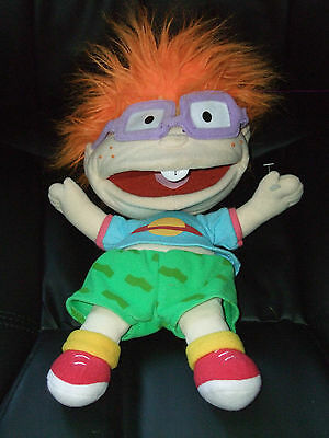 """Rugrats Chuckie Hand Puppet Soft Toy Doll By Applause Dated 1988 Approx 16"""""""