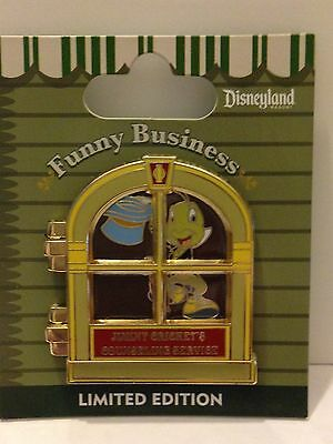 Disney pin jiminy cricket funny business counseling service LE june 2014