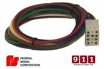 Federal Signal Replacement Siren Power Harness Plug Cable 12 Pin 1' PA300 SS2000
