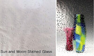 Clear RAIN Water Spectrum Stained Glass Sheet