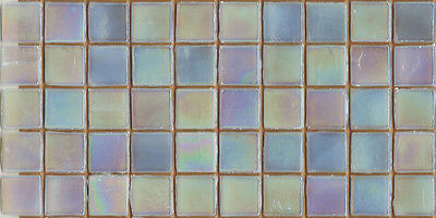 50pcs NP37 Champagne Pearl Natura Glass Mosaic Tiles Iridescent 15x15x4mm