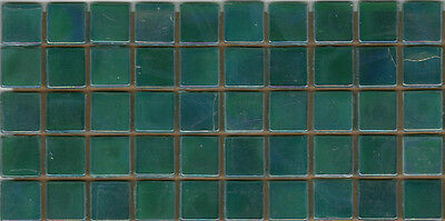 50pcs NP44 Teal Pearl Natura Glass Mosaic Tiles Iridescent 15x15x4mm Paperfaced
