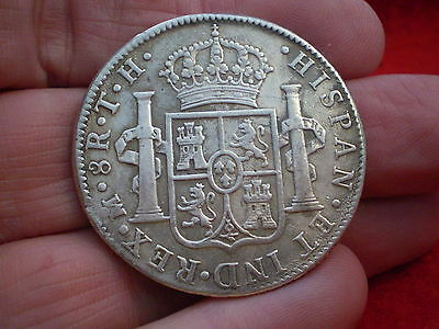 Nice Historic 1804 Silver Mexico Mint Colonial 8 Spanish Reales 100% Desirable:)
