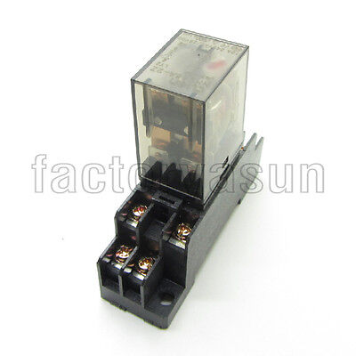 Coil DC12V Power Relay 10A DPDT LY2NJ HH62P HHC68A-2Z Loose Ding Socket Base