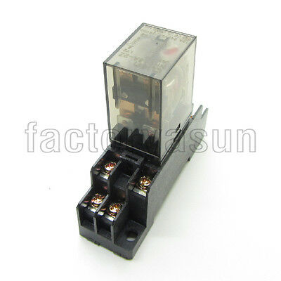 Coil DC24V Power Relay 10A DPDT LY2NJ HH62P HHC68A-2Z Loose Ding Socket Base