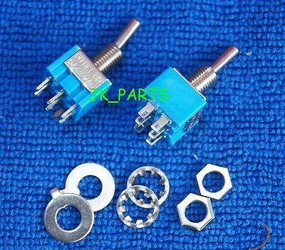 10pcs NEW Mini MTS-203 6-Pin DPDT ON-OFF-ON 6A 125VAC Toggle Switches 3 Position