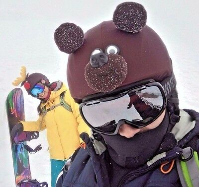 Teddy bear helmet cover is suitable for technically all kinds of sport helmets