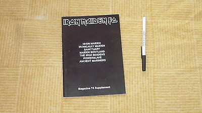 Iron Maiden Fan Club Supplement Magazine Number 74 Free Uk Post