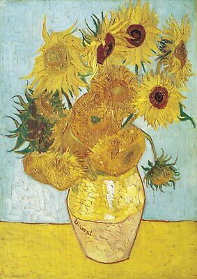 Sunflowers - Van Gogh A4 size 21x29.7cm QUALITY Decor Canvas Art Print Unframed