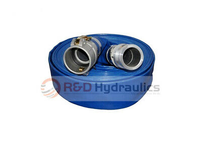 "3"" x 50 Ft. Blue Water Discharge Hose w/Camlock Fittings"