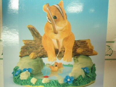 Fitz & Floyd Charming Tails Gone Fishin' Figurine in Box