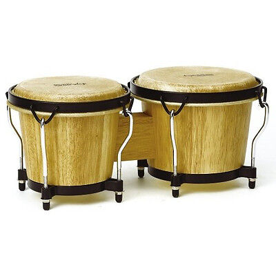 *NEW* Tycoon Percussion 6 Inch & 7 Inch Ritmo Bongos - Natural Finish drums