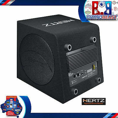 "Hertz Dba 200.3 8"" Active Car Audio Subwoofer Loaded Sub Enclosure W Amp & Wire"